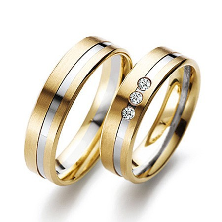 mens couple rings yellow gold white gold diamond wedding rings - Couple Wedding Rings