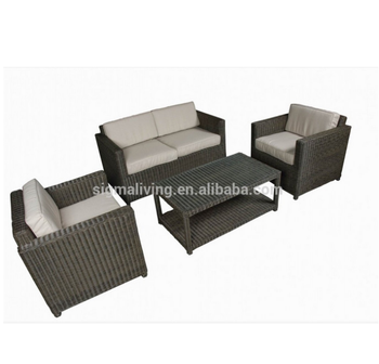 Sigma weatherproof rattan garden furniture modern couch sets outdoor sofas for sale