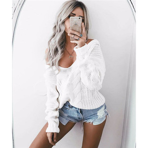 Fashion women long sleeves hollow out sweater women loose women loose sweater