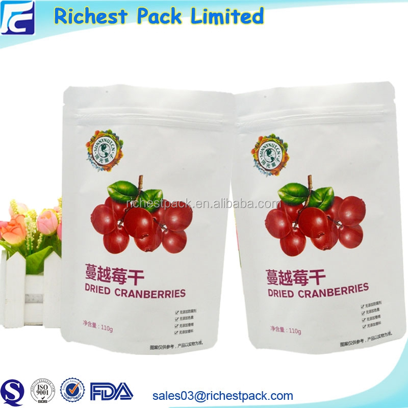 Good Quality Plastic Packaging Custom Printed Food Grade Bags Stand up Ziplock Made in China
