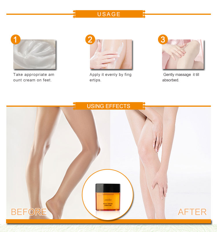 100% Best Pure Private Label Herbal Whitening Foot Cream