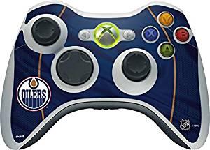 NHL Edmonton Oilers Xbox 360 Wireless Controller Skin - Edmonton Oilers Home Jersey Vinyl Decal Skin For Your Xbox 360 Wireless Controller