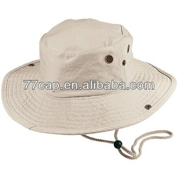 Hot Sales Cotton Fisherman Bucket Hat Plain White Cotton Bucket Hat with  String Manufacturer 6a98b67e1ba