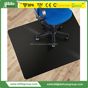Allife Black Polycarbonate Office Chair Mat 36 X 48 Carpet Floor Protection