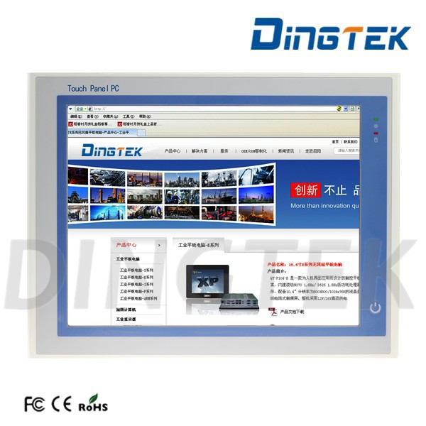 "DT-P190-P rugged touch screen 19"" touchscreen industrial pc 4 ethernet ports motherboard with I5 CPU PCI extend port"