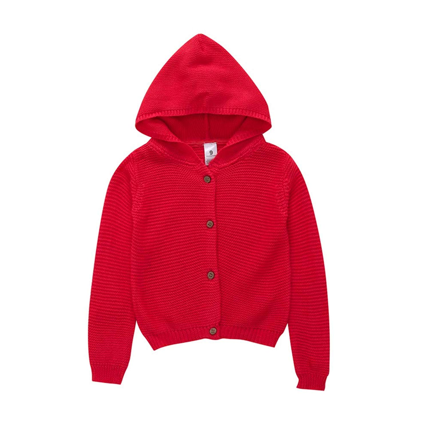 bdbdab26629 Tronet Baby Boy Girl Winter Knitted Bottons Hooded Tops Sweater Infant Keep  Warm Jacket Coat