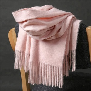 2018 wholesale Long cashmere tassel Women printing winter Tassels scarf ladies fashion pure color scarf