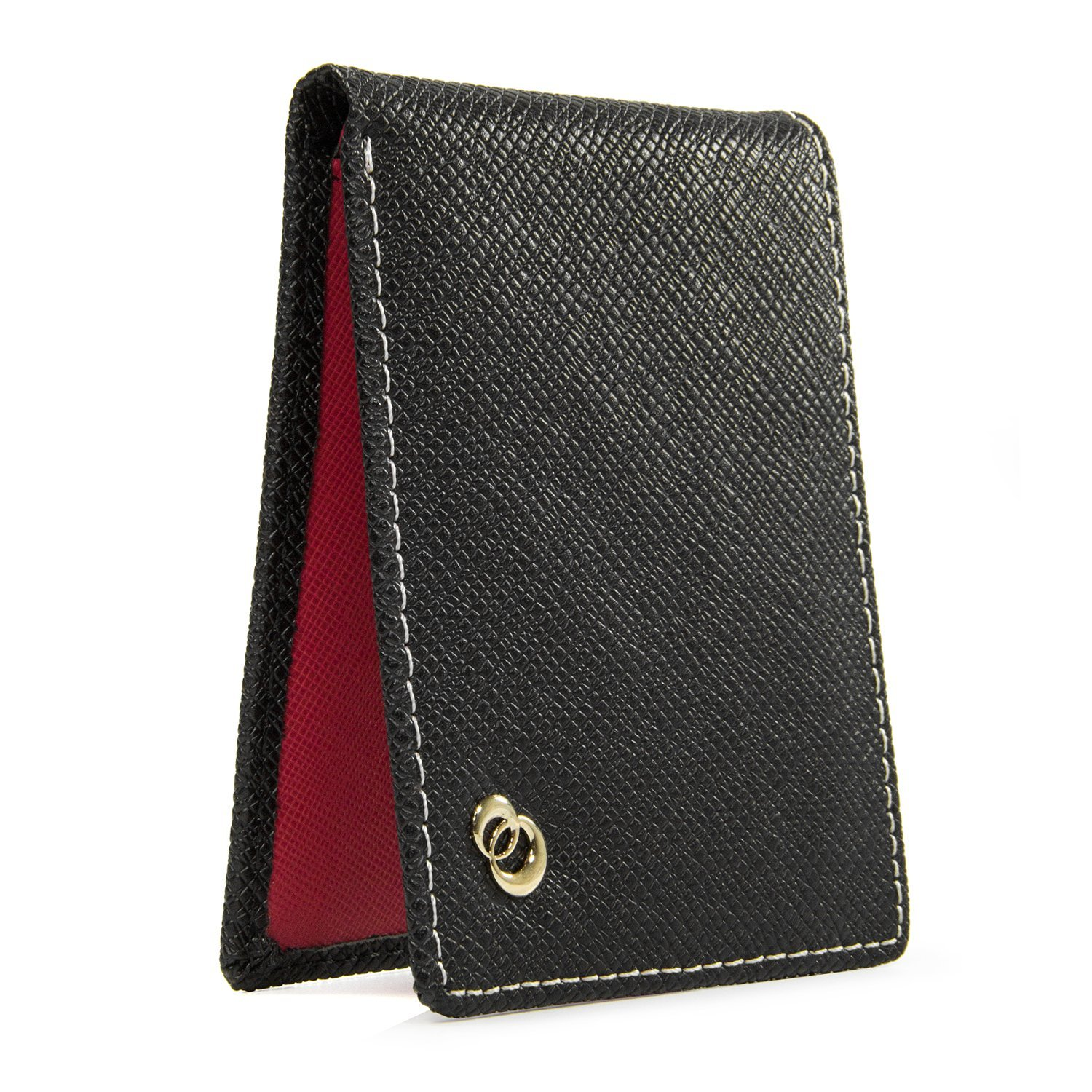 Mens Genuine Leather Wallet Slim Card Holder with Rear Coin Pouch, Travel Accessories for Cash Money, ID, Credit Cards