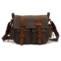 Augur High Quality Male Vintage Cotton cross body messenger bag