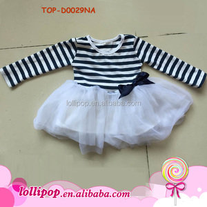 Latest dress designs frock photos ruffle long sleeve children girls tutu dresses cotton toddler dress names with pictures