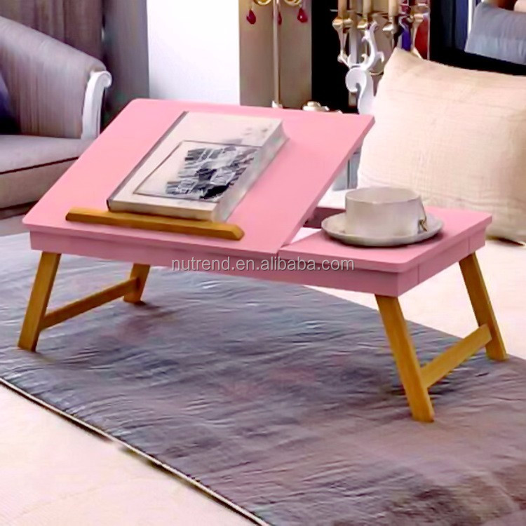 Modern Folding Wooden Laptop Tray Table On Bed Study Table - Buy ...