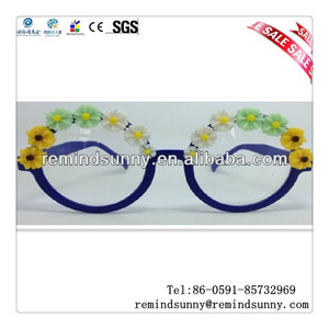Half Pattern Colorful And Blue Frame Sunglasses