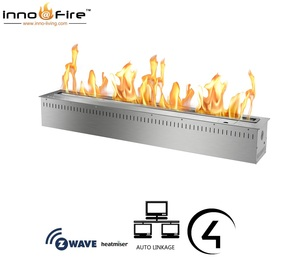 Inno living fire 36 inch black/silver wall insert ecological alcohol gel burning fireplaces