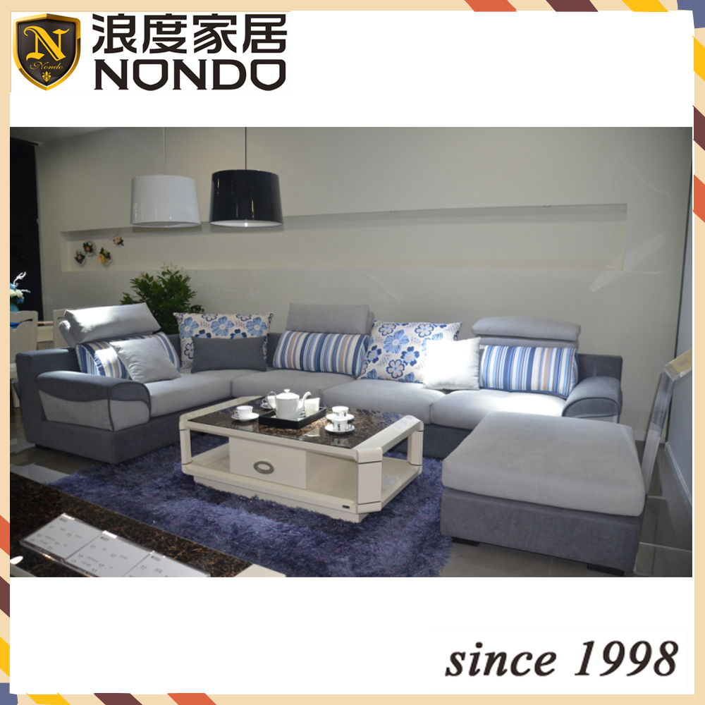 yellow and beige color large size sectional fabric <strong>sofa</strong> Bk088-2