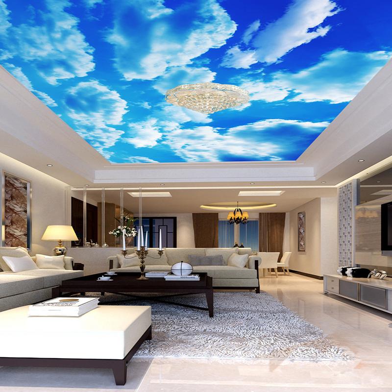 Shenzhen Customize Sky Ceiling Mural Wallpaper 3d Wall Murals