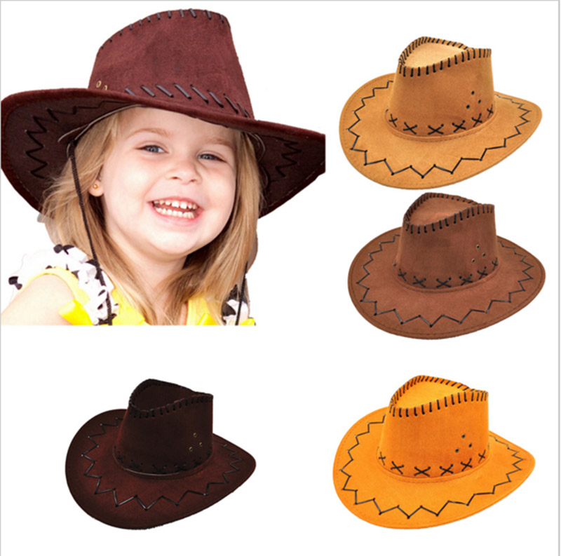 Wholesale painted western mexican kids felt children lemmy cowboy hats 1c9e4ef2dfc1