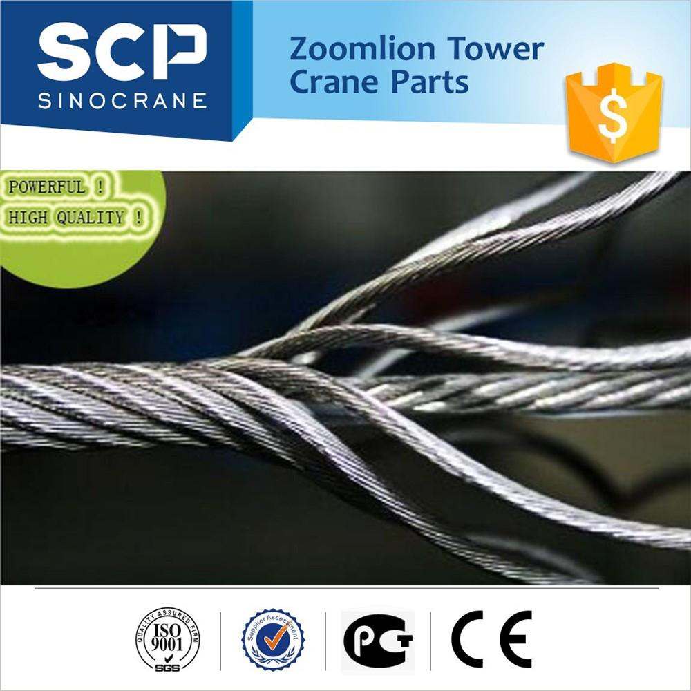 New Original Zoomlion Tower Crane Parts Wirerope Steel Wire Rope ...