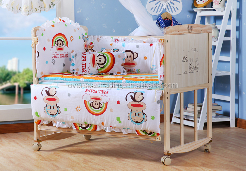 Portable pine wood baby bed/Baby cot/baby wooden crib