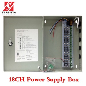 Output 12V CCTV Power Supply Box 18 Channels