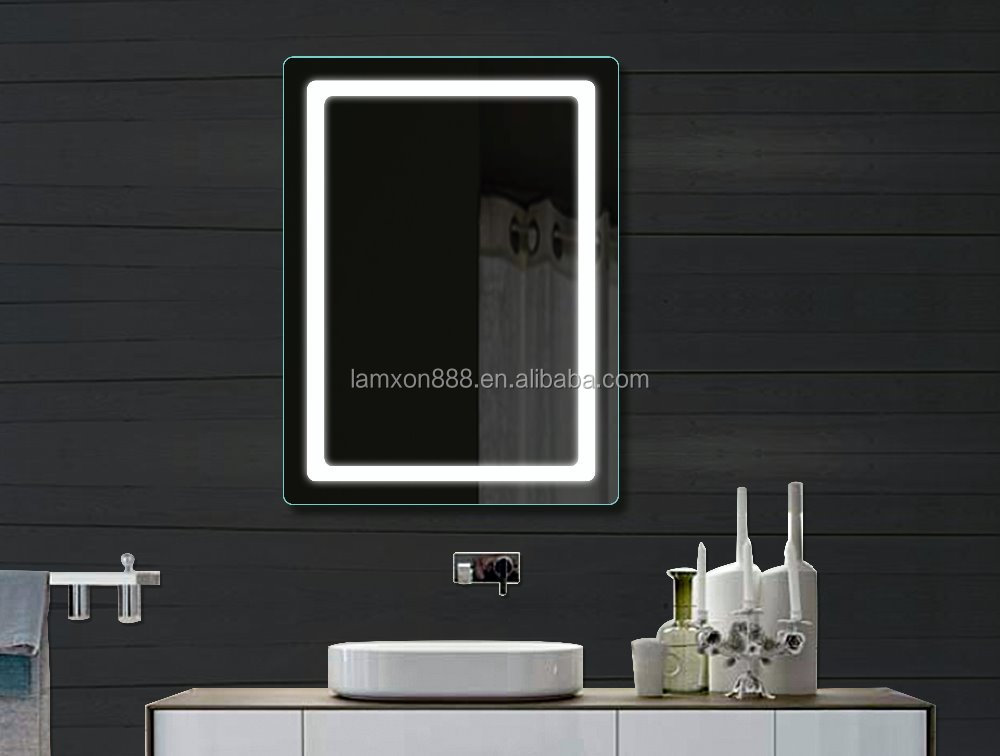 Hotel Project Illuminated Bathroom Mirror Modern Bathroom