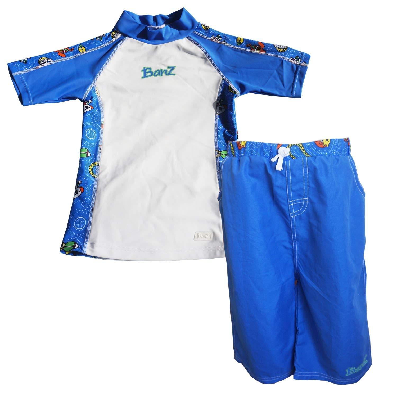d424db7368 Get Quotations · Baby Banz Baby Boys' Sleeve Rash Guard and Board Shorts Set