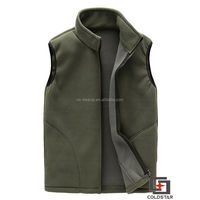 Unisex Casual Vest Men Winter Warm Thick Sleeveless Jacket Army Green Mens Waistcoat Black Male Polar Fleece Vests
