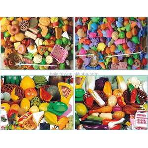 Wholesale Classic Kitchen Toys Pretend Play Set 24PCS Miniature Plastic Food Toy Cut Fruits And Vegetables For Kids