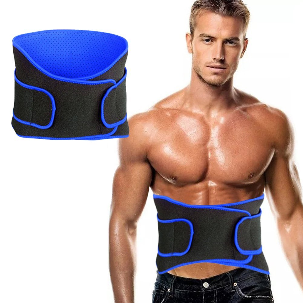Waist Trimmer Belly Trimmer Ab Belt Stomach Fat Burner Weight Loss Belt, Adjustable Toning Belt Wrap for Men & Women Waist Trainer Abdominal Belt