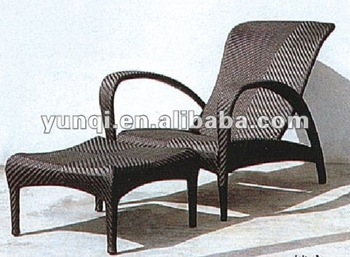 Rattan\wicker\outdoor\sun loungers with footrest/factory price