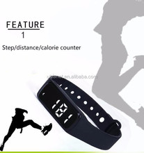 Promotional gift CE smart bracelet waterpoof colorful wrist strap pedometer