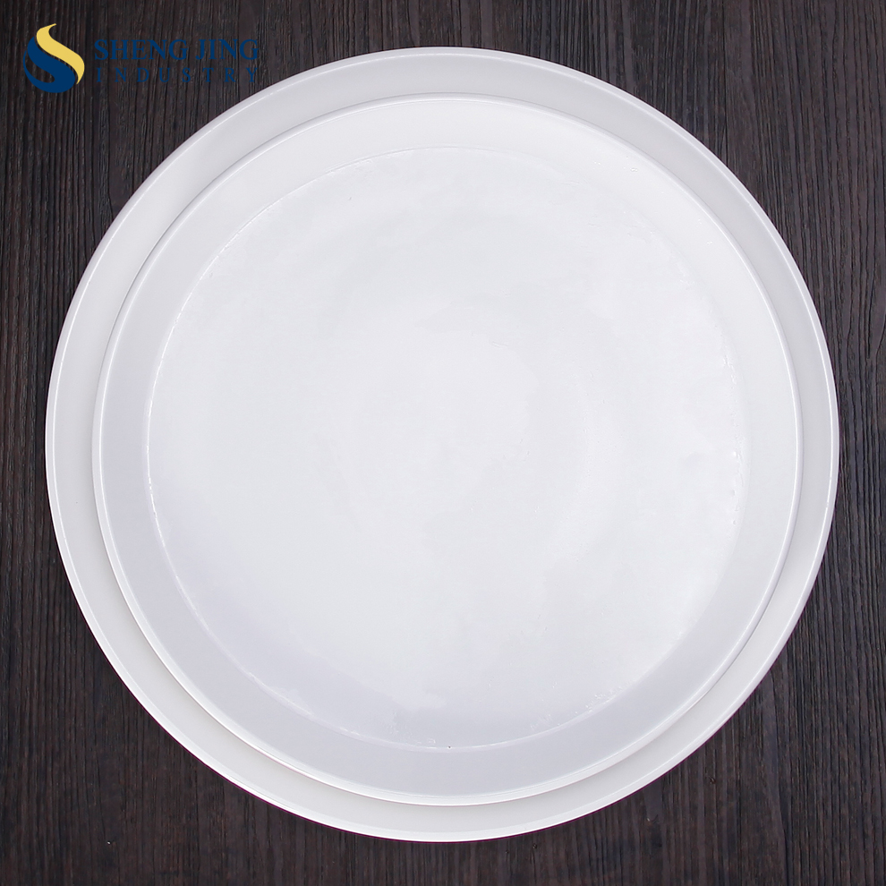 "Customized 11"" 12.5"" Round Shape White Porcelain Pizza Plate"