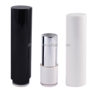 Cosmetic packaging lipstick drop shape can spin and bounce pipe black/ white popular case