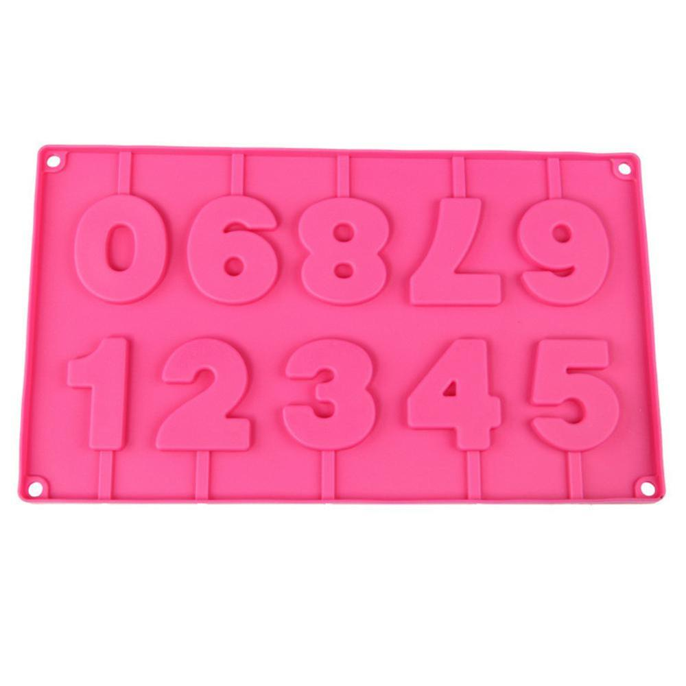 Number 0~9 Shape Silicone Lollipop Mold For Making Homemade  Chocolate,Candy,Gummy,Jelly,Baking Molds - Buy Silicone Lollipop  Mold,Lollipop Cake