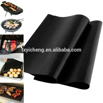 HOT SALE!PTFE re-usable washable Nonstick  bbq grill sheet mat for barking