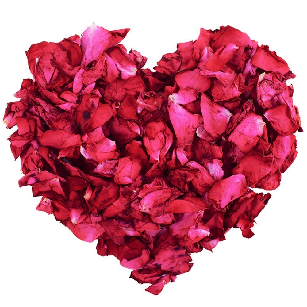 100g Natural Dried Rose Petals Real Flower Dry Red Rose Petal for Foot Bath Body Bath Spa Wedding Confetti Home Fragrance DIY Crafts Accessories