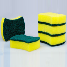 Hot Sale Colorful Classic Green Kitchen Scrub Sponge Scouring Pad