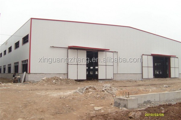 multifunctional well welded skylight prefab warehouse shed