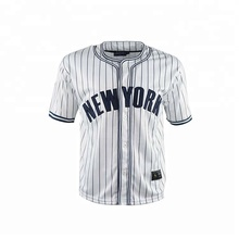 2018 zomer losse stijlvolle button custom <span class=keywords><strong>streep</strong></span> baseball <span class=keywords><strong>jersey</strong></span>
