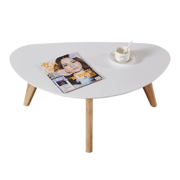 Modern Design White Semi Circle Table Half Moon Shape Ergonomics Coffee Tables