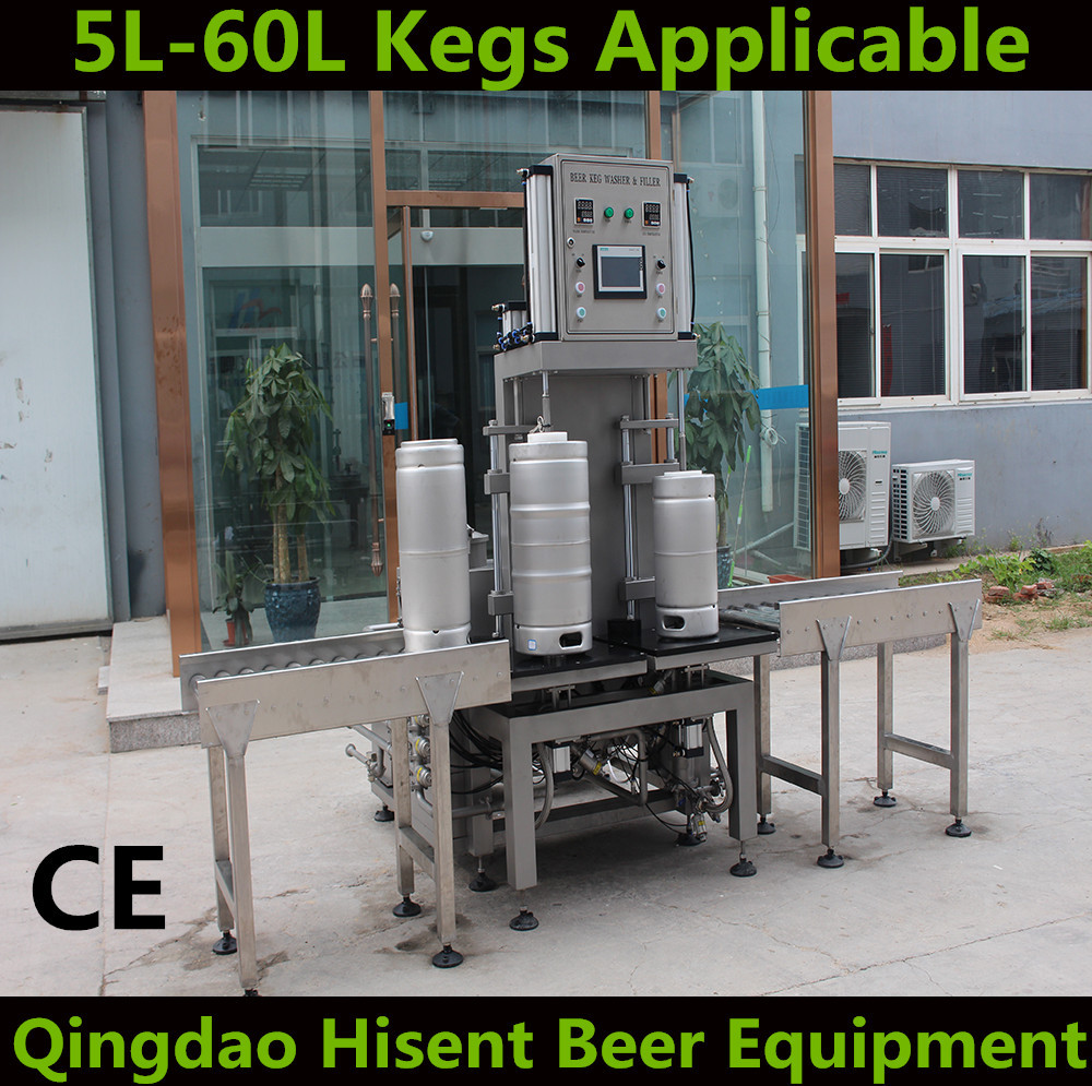beer keg barrel can washing and filling machine line