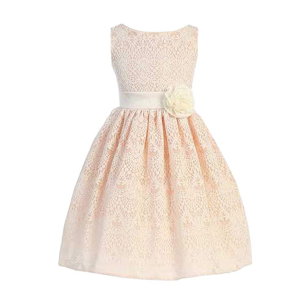 b74e63dd1667 Sweet Kids Big Girls  Sweet Vintage Lace Country Style Flower Girl Dress