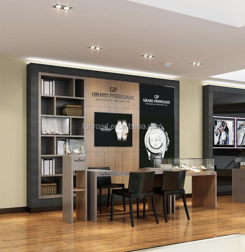 Modern interior design watch store display cabinet