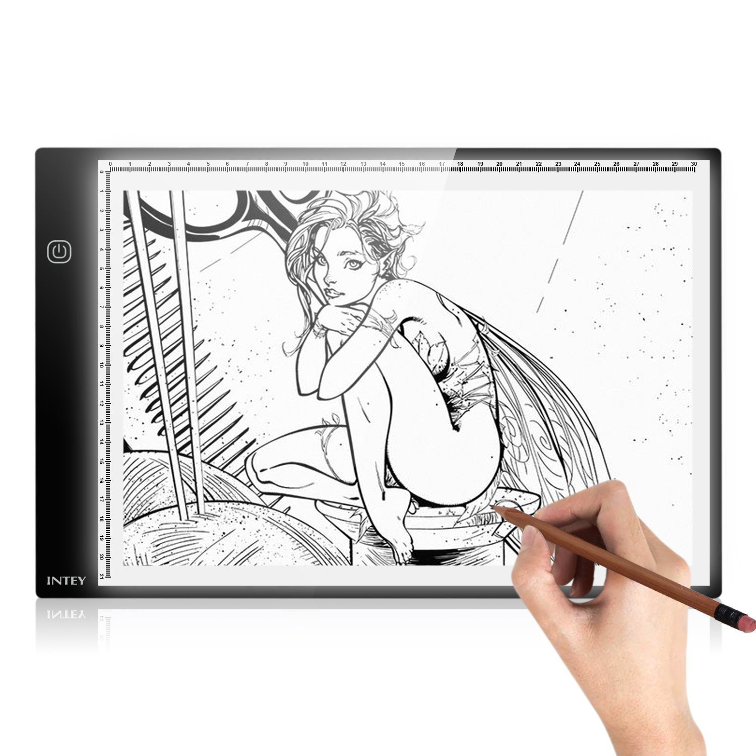 LED Light Box A2 Stepless Dimming Control Tracing Board with USB Power Cable Pencils Clips for Kids Artists Drawing Sketching Animation