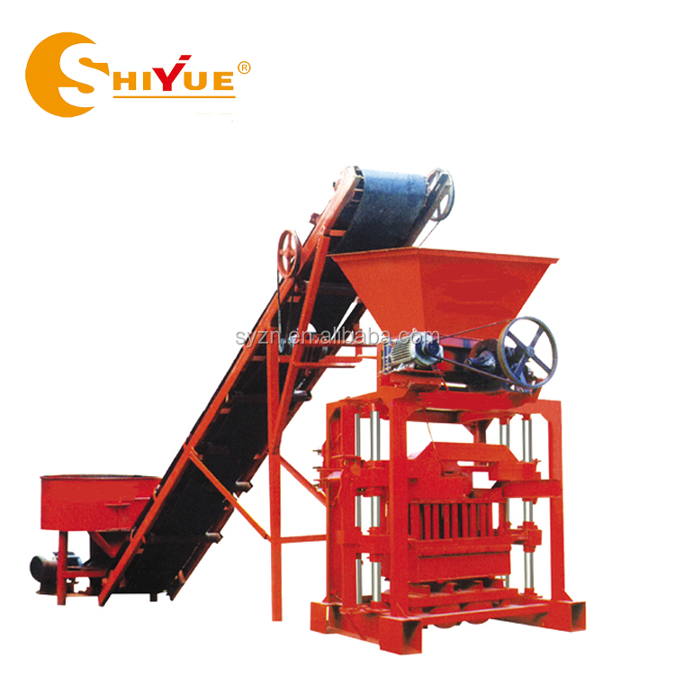QTJ4-35B2 turkish used concrete hollow solid paver block making machine for sale