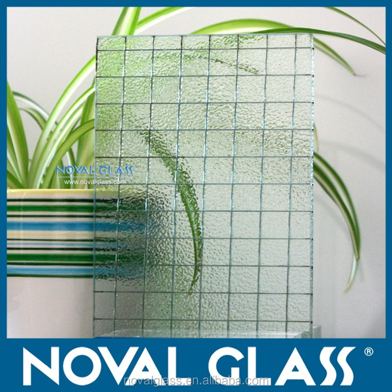 Top Quality Wire Mesh Security Glass 6mm 6.5mm Nashiji Patterned ...