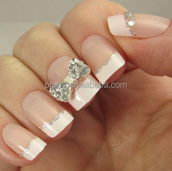 Soft Nude Nails With A White French Tip. Alternating Nails ...
