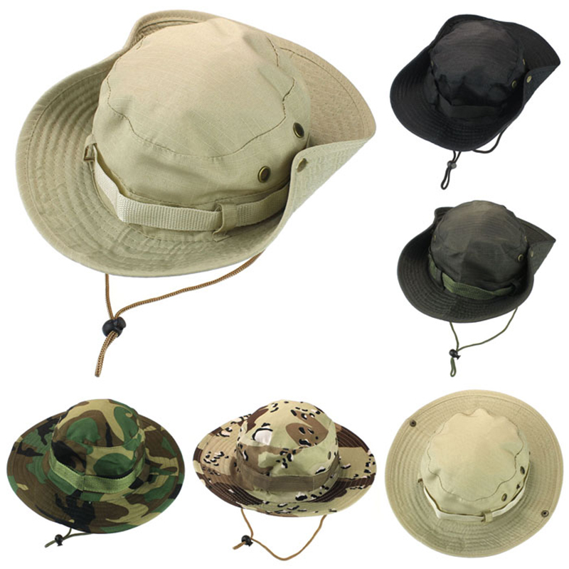 6009081595a Buy Anleolife Mens Bucket Hats Outdoor Hunting Fishing Hiking Boonie Hat  Snap Brim Military Sun Hat Cap Woodland Camo in Cheap Price on Alibaba.com