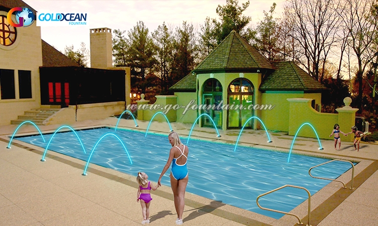 FREE DESIGN Indoor Home Swimming Pool Jumping Jet Laminar Flow Water Fountain