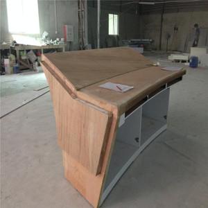 Manufacturer Supply Wholesale Wooden Reception Desk Modern Beauty Salon Furniture