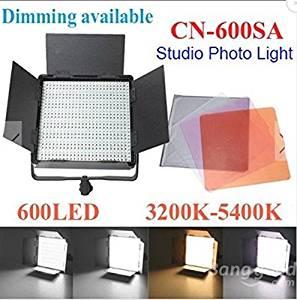 Cn-600sa 600-led Photo Studio Light 3200-5400k Dimming Lamp